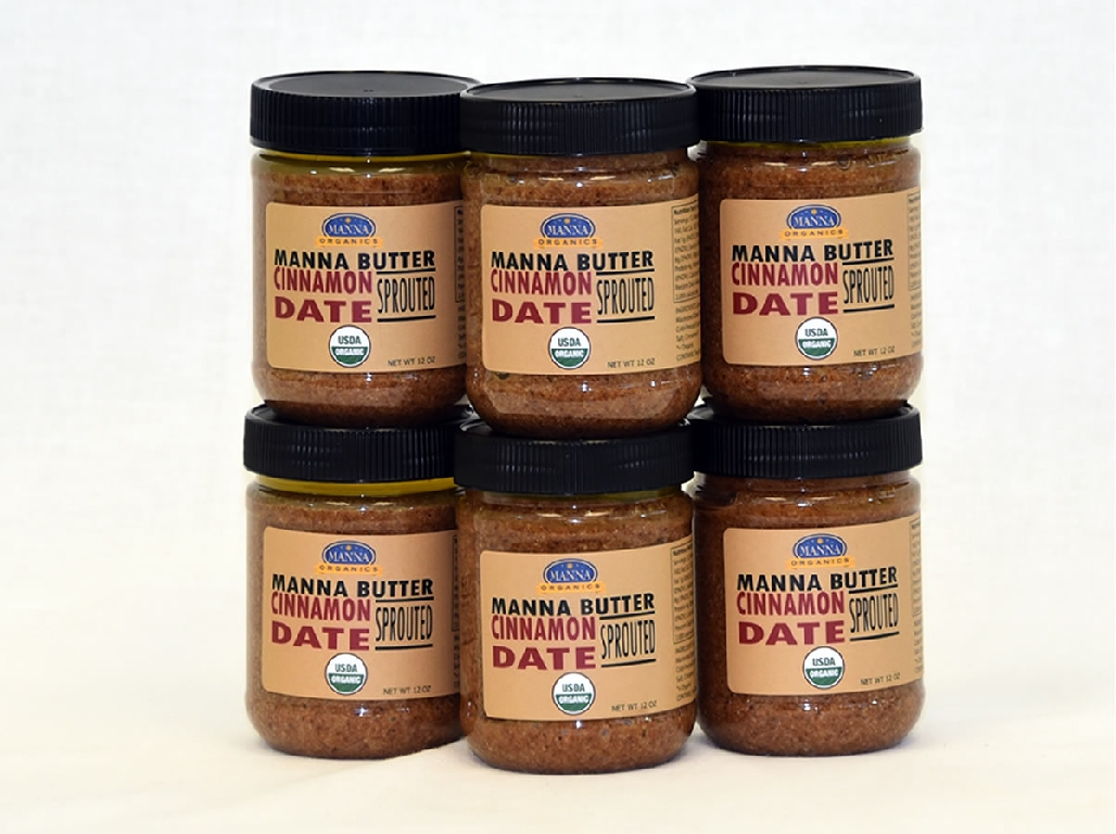 Case of 6 Manna Nut Butters Cinnamon Date